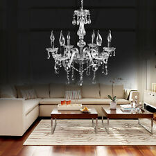 Elegant Crystal Chandelier Fixture Lighting Pendant Modern Lamp 6 Ceiling Light