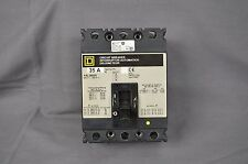 Square D Fal36035 35 Amp 600V 3 Pole Circuit Breaker - used