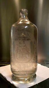 Vintage Soda Syphon Soda Bottle   E. Rowlands, 1930's /40's  Very Good Condition