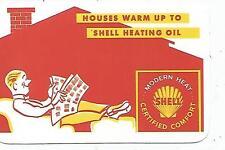Shell Oil Heating Oil Celluloid Wallet Calendar 1961