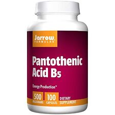 Jarrow Formulas, Pantothenic Acid B5, 500 mg, 100 Capsules, Energy Production