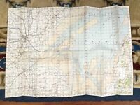 1932 Vintage Military Map of Boston Lincolnshire The Wash RAF War Office Issue