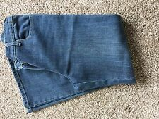 Ladies M&Co Distressed Jeans 12 Petite Blue