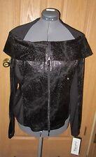 JOSEPH RIBKOFF Black Snakeskin Zippered Jacket Shirt Top Womens Size 16 US NWT