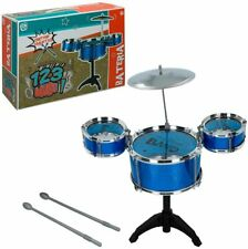 Bateria musical infantil con 2 baquetas, 3 tambores, 1 platillo, edad + 3 años