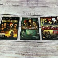 Pirates of the Caribbean Trilogy Dvds 2 With Slipcovers Movies 1-3 Johnny Depp