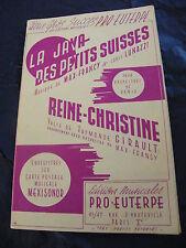 Partition La java des petits suisses Reine Christine Francy Lunazzi Music Sheet