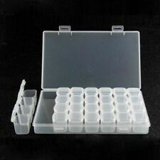 Storage Tool DIY Removable Clear Plastic Organizer Nail Art Rhinestone 28 D