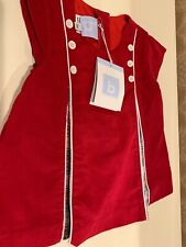 NWT Bella Bliss Baby Girl Size 12 Months Short Sleeve Red Corduroy Dress