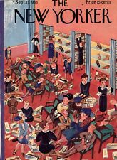 1938 New Yorker Cover only September 17-Buying new school shoes at Macy's Karasz