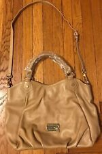 Marc by Marc Jacobs Classic Q Fran Pebbled Tan Large Leather Crossbody  Bag
