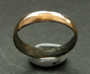 A small genuine ancient Viking bronze ring..hair ring? Uk found