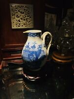 """18TH CENTURY CHINESE EXPORT BLUE & WHITE CREAMER / PITCHER, 4.5"""" TALL"""