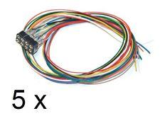5 x ESU 51950 Schnittstellenbuchse 8-pol. NEM 652 mit Kabelbaum Pack *NEU & OVP*