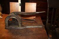 Antique Cast Iron Tobacco Plug Cutter Standard Reading Hardware Company Penn