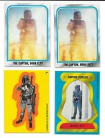 (4) 1980 Topps Empire Strikes Back Sticker Boba Fett RC Mandalorian Star Wars