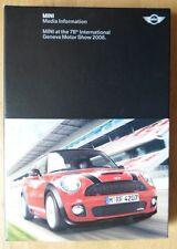 MINI 2008 GINEVRA MOTOR SHOW DI LUSSO PRESS KIT CON CD e OPUSCOLI