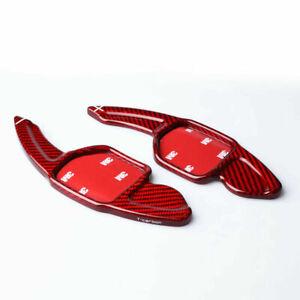 Red Carbon Fibre Paddle Shifter Extensions 2006-2013 Audi A3 A4 A5 A6 S3 S4 S5