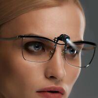 Bright Basics 2 Pack Clip On Glasses LED Book Reading Light Mini Lamp Work Light