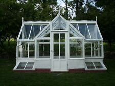 Timber and brick base greenhouse 5m by 3.5m