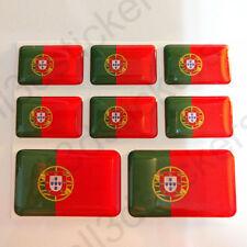 Autocollant Portugal Drapeau 3D Résine Adhésif Relief Autocollants Portugal