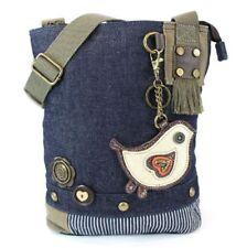 Chala Purse Handbag Denim Canvas Crossbody With Key Chain Tote Bag Biddle Bird