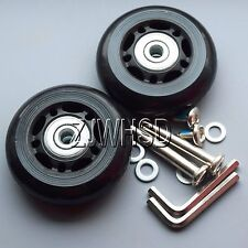 """Luggage Suitcase Replacement Wheels OD 60 (2.36"""") ID 6 W 18 Axles 40 Repair Set"""