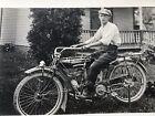 Antique Indian Motorcycle RPPC Real Photo Postcard Toledo Ohio OL McDonald