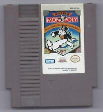 Vintage Nintendo monopoly Video Game NES Cartriage VHTF