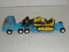 Vintage BUDDY L Semi Tractor Truck Cab & Trailer and Tonka Bulldozer