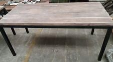Tavolo in ferro e legno massello 180x80 in stile industriale vintage