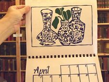 Vidabeth Bensen Asian Print Signed Calendar 1998