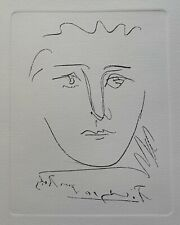 Pablo Picasso POUR ROBY Restrike Etching Signed in the Plate Mint Condition!