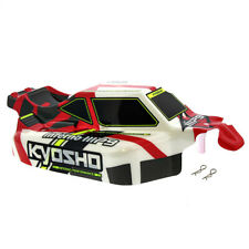 Kyosho Inferno MP9 TKI4 RS 1/8: Body Shell Cover, Pins, Decals, Red White Black