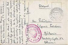 K.u.K. Marinefeldpostamt Pola k.u.k. Arsenalkommando 1915 auf Schiff Karte !