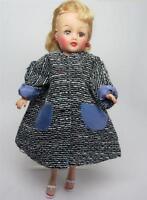"""1950's Tweed Lined Custom A-Line Coat fits 10-1/2"""" Fashion Doll LMR Jill Toni"""