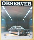 BMW 6 SERIES OBSERVER Special Edn Coupe Convertible 1982 brochure - MGA 635 CSi