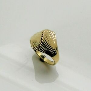 LADIES DOME FASHION RING IN 14K YELLOW GOLD RETAIL $699