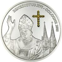 Congo 2005 Benedict Enchase Gild Cross 10 Francs Silver Coin,Proof