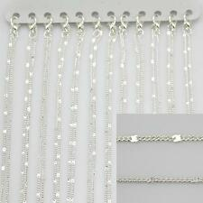 """16"""" (40cm) Quality Silver Plated Fine Chains Necklaces  Jewellery Making 135SPK"""