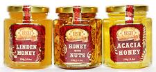 Luxury Honey Gift Set - Acacia/Linden/Acacia with Walnuts. 790 grams.