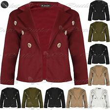 Unbranded Polyester Button Cropped Coats & Jackets for Women
