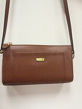 Ralph Lauren Brown Leather Messenger Bag Handbag