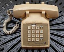Vintage Tan Push Button Phone Telephone