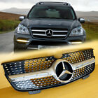 For Mercedes-Benz X164 GL-Class 07~12 GL450 / 10~12 GL350 Silver Front Grille