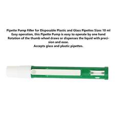 10ml Pipette Pump Filler For Disposable Plastic Glass Pipettes Green