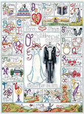 Cross Stitch Kit ~ Design Works Anniversary / Wedding Day ABC Sampler #DW2734