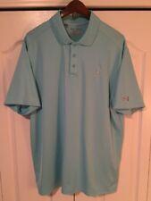 â›³Under Armour HeatGear Mens Extra Large-Xl Golf/Polo Shirt-Turquoise Blue