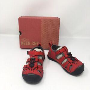Keen Seacamp || CNX, Racing Red/Gargoyle Shoe Sandal, US Childern 10, Washable