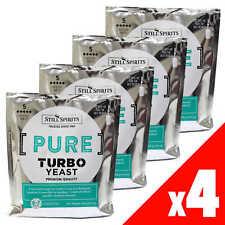 PURE Triple Distilled Turbo YEAST Still Spirits 4 Pack Home Brew